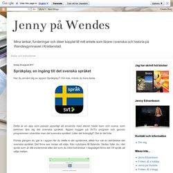 Språkplay, en ingång till det svenska språket