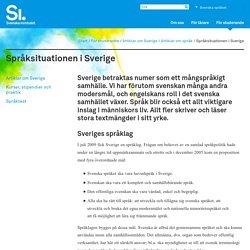 Språksituationen i Sverige