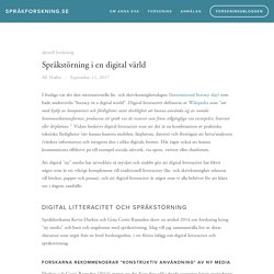 Språkstörning i en digital värld
