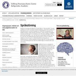 Språkstörning - Gillbergcentrum, Göteborgs universitet