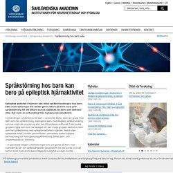 Språkstörning hos barn kan bero på epileptisk hjärnaktivitet - Göteborgs universitet