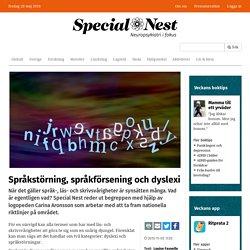 Språkstörning, språkförsening och dyslexi