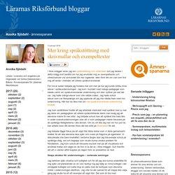 Mer kring språkstöttning med skrivmallar och exempeltexter