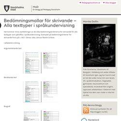 Bedömningsmallar för skrivande – Alla texttyper i språkundervisning