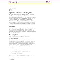 IKT i språkundervisningen (Stockholm) 2015-04-16