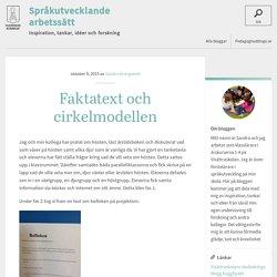 Språkutvecklande arbetssätt » Faktatext och cirkelmodellen