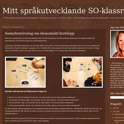 Mitt språkutvecklande SO-klassrum: Samarbetsövning om ekonomiskt kretslopp