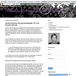 Språkutveckling med genrepedagogik, IKT och formativt lärande
