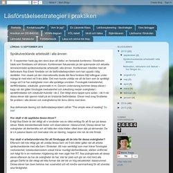 Språkutvecklande arbetssätt i alla ämnen