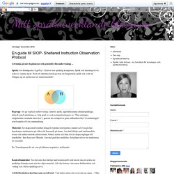 En guide till SIOP- Sheltered Instruction Observation Protocol
