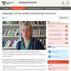 Ingångar till ett språkutvecklande klassrum