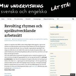 Revolting rhymes och språkutvecklande arbetssätt