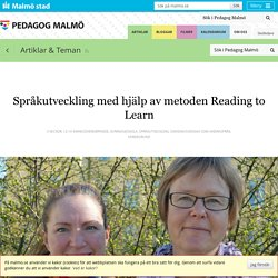 Språkutveckling med hjälp av metoden Reading to Learn