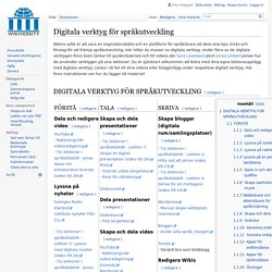 Digitala verktyg för språkutveckling - Wikiversity