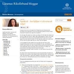 Språkval - hur hjälper vi eleverna att välja? - Rosana Månsson