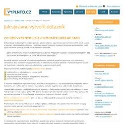 Vyplňto.cz - řešení pro online průzkumy
