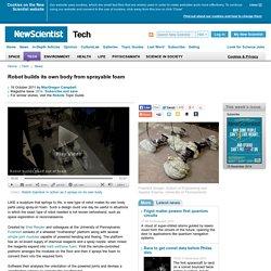Robot builds its own body from sprayable foam - tech - 19 October 2011