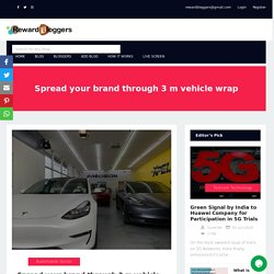 Spread your brand through 3 m vehicle wrap