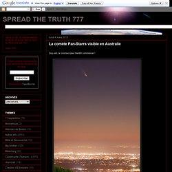 La cométe Pan-Starrs visible en Australie