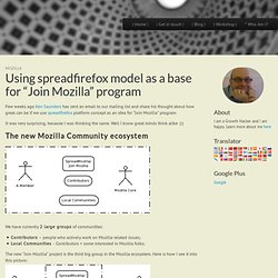 "Using spreadfirefox model as a base for ""Join Mozilla"" program :: TalkWeb"