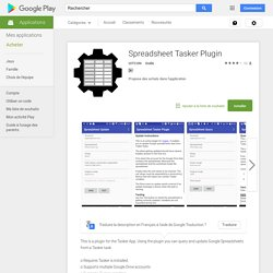 Spreadsheet Tasker Plugin – Applications Android sur Google Play