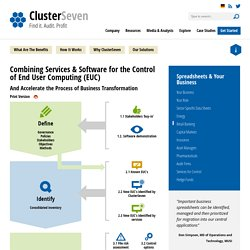 Services and Software for Spreadsheet Control - ClusterSeven