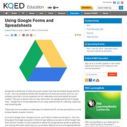 Using Google Forms and Spreadsheets : KQED Education
