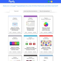 : Easily Turn Google Spreadsheets into Flashcards and Other Cool Stuff