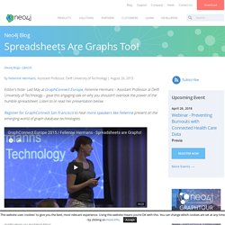 Spreadsheets Are Graphs Too! - Neo4j Graph Database