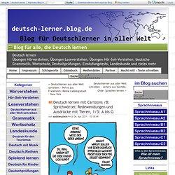 Deutsch lernen mit Cartoons /8: Sprichwörter, Redewendungen und Ausdrücke mit Tieren, 1/3: A bis G