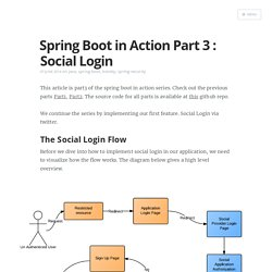 Spring Boot in Action Part 3 : Social Login