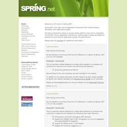 Spring.NET - Application Framework