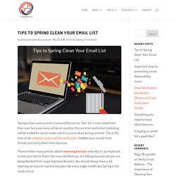 Tips to Spring Clean Your Email List - eHygienics