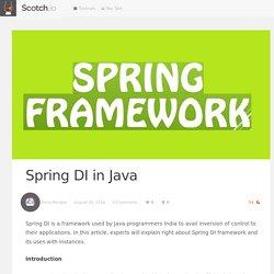 Spring DI in Java