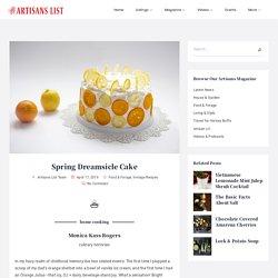 Spring Dreamsicle Cake