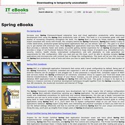 Spring eBooks - Free Download IT eBooks