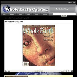 Whole Earth Spring 1998 - Electronic Edition
