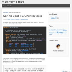 Spring Boot 1.4: Gherkin tests