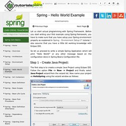 Spring Hello World Example