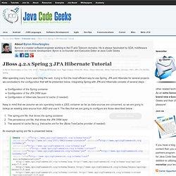 JBoss 4.2.x Spring 3 JPA Hibernate Tutorial