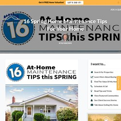 Home Maintenance Tips for Spring!