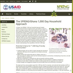 The SPRING/Ghana 1,000 Day Household Approach