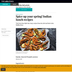 Spice up your spring! Indian lunch recipes