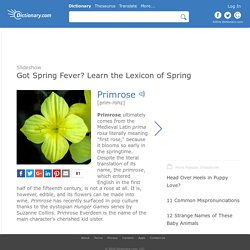 Got Spring Fever? Learn the Lexicon of Spring by Dictionary.com