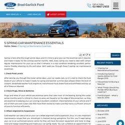 5 Spring Car Maintenance Essentials