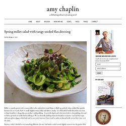 Spring millet salad with tangy seeded flax dressing - Amy Chaplin