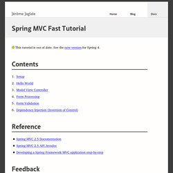 Spring MVC Fast Tutorial