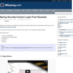 Spring Security form login example