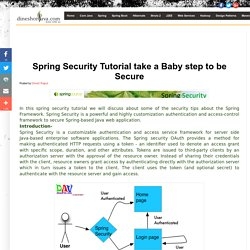 Dinesh on Java: Spring Security Tutorial take a Baby step to be Secure