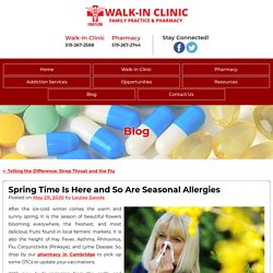 Spring Time Is Here and So Are Seasonal Allergies